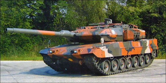 Dutch Leopard Tank Being Transported By The British In Kosovo 1999